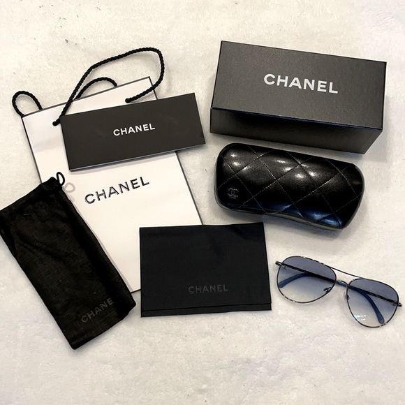 Genuine Chanel Aviator Sunglasses